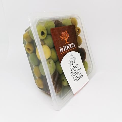 Siciliansk olivmix, urkärnade